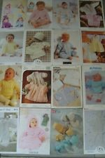 Job Lot/Bundle of 16 Babies Knitting Patterns
