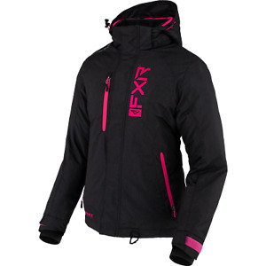 FXR WOMENS FRESH JACKET  BLACK LINNEN/FUCHSIA SIZE 8 210202-1190