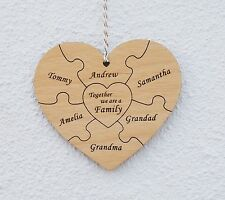 Unbranded Heart Personalised Decorative Wall Plaques