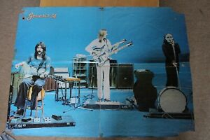 Genesis VERY RARE 1974 French music press Poster Peter Gabriel G-/poor condition
