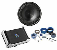 "ALPINE X-W10D4 10"" 900 Watt RMS Car Subwoofer+ALPINE X-A90M Amplifier+Amp Kit"