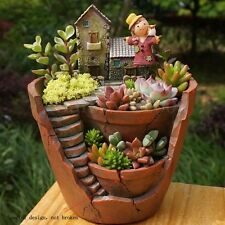 Sky Garden Planter Herb Flower Succulent Cactus Plant Resin Pot Box Container US