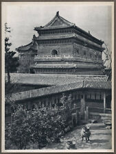 1920's CHINA GRAVURE PAGEANT OF PEKING DONALD MENNIE - TEMPLE OF 10,000 BUDDHAS