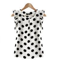 Women Casual Chiffon Blouse Short Sleeve Tee Shirt T-shirt Summer Tops Fashion X