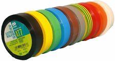 AT7 Rainbow Pack pvc-elektro-isolierband-set 15mm x 10m Adhesive Tape Marker