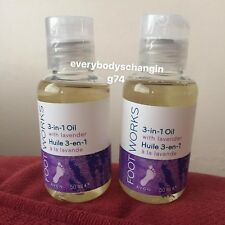 Avon~FOOT WORKS~3 In 1 Oil With Lavender~x2 Lots
