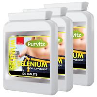 Selenium Tablets 220mcg HIGH STRENGTH Hair Skin Nails Capsules Immune Health UK