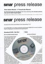 Sinar Presseinformation 2/04 inkl. CD Sinarback 54M Action Module press release