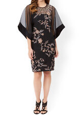 MONSOON Limited Edition Sapphire Silk Organza Black Tunic Dress BNWT