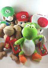Super Mario Brothers Collection Plush 5 Set Mario Toad Luigi Yoshi Nintendo Rare