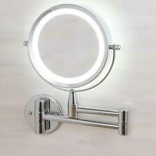 7x Extending Magnifying Makeup Bathroom Shaving Round 2-Side Mirror Wall Mount