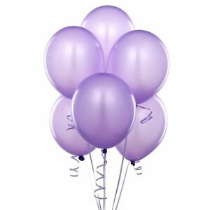 "5 x 12"" Purple Latex Balloons Party Decorations Birthday Wedding celebrations UK"