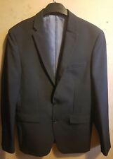 Mens Black Suit Tailored Slim Fit Jacket / Blazer Primark Size 38 Large