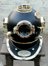 "US Navy Vintage Diving Helmet Solid Steel Mark V 18"" Inch Divers Helmet Replica"