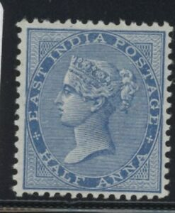 IND Queen Victoria 1/2 Anna deep Blue stamp (SG75) from India dated 1873 mint