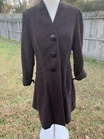 J. JILL Women's XS Small Brown Cotton Texture Coat