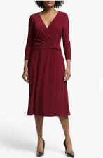 Lauren Ralph Lauren Zanahary Wrap Dress Red Vibrant Garnet UK Size 12 RRP £160