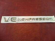 V6 KOMPRESSOR x2 Letter Trunk Emblem Rear Badge Decal Sticker for Mercedes Benz