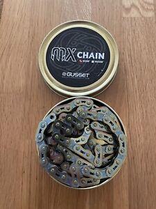 "Bike  Chain 1/2"" x 1/8"" Oil slick Chrome Chain102 Links MX By Gusset"