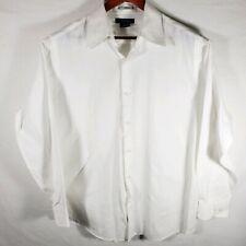 J. Ferrar JF Regular Fit Long Sleeve Dress Shirt Men Large 16-16-1/2 White