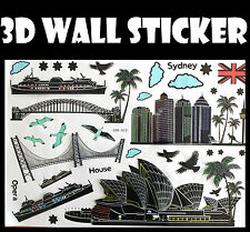 3D Sydney Australia Wall Sticker decals Home Decor Decoration Wallpaper Room Art