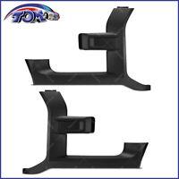 Front Left & Right Side Grille Trim Molding Black For 17-18 Ford F-150 Raptor