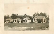 A View Of Nelson's Cabins, 30's Autos, Franconia, New Hampshire Nh Rppc