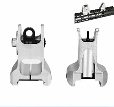 Tactical Front and Rear Iron Sight Set For Picatinny / Weaver 20mm Rail Rifle