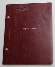 Paradise Island * 1961 Original Musical Play Script * Produced by Guy Lombardo