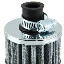 12mm Motorrad Intake Luftfilter Sportluftfilter Turbo Vent Crankcase Silber AT