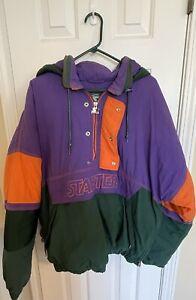 Vintage Starter S2 Hooded Jacket Windbreaker Size Large Full Zip 1990s