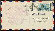 1929 FIRST FLIGHT ROME, NY TO SPRINGFIELD, IL - 650 FRANKING (ESP#1104)
