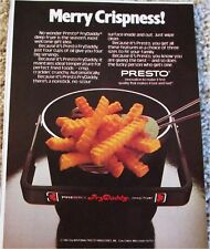 1981 Presto Fry Daddy Christmas ad