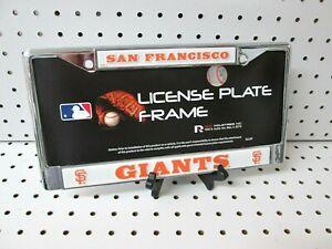 Brand New MLB San Francisco Giants Full Size Chrome License Plate Frame