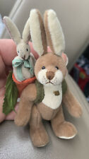 Ganz Cottage Collectibles Miniatures Bunnykins Bunny Rabbit & Baby Rabbit Carrot