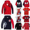 Kid's Boy Cartoon Spiderman Casual Sweatshirt T-Shirt Tops Hoodies Jacket Coats