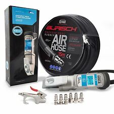 PCL ACCURA MK4 Tyre Inflator + BURISCH 15M hose + air duster gun, 6 fittings kit