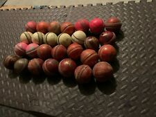 Lots of Leather Cricket Balls (Used). Good for knocking and net practice.