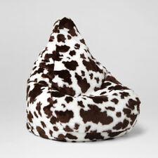 Chillizone Bean Bag Cow Print Brown Faux Fur Adult 200 litre - Australian Made