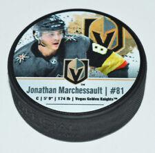 JONATHAN MARCHESSAULT Player Photo Vegas Golden Knights PUCK Sher-wood Back Logo