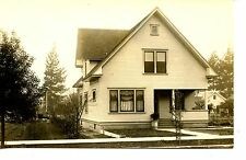 Cute Home-House-Side Yard Garden-RPPC-Vintage Real Photo Postcard