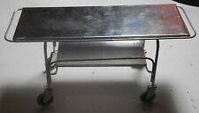 Doll miniature handcrafted Asylum Hospital Medical morgue Gurney table 1/12th