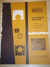 Northern Plastics Corp Catalog~Asbestos~Norplex Plastic Laminates~1956~LaCrosse