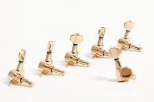 Set clavijas 6 en línea doradas Guitarra - Set of 6 in line Gold machine heads