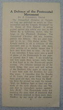 A Defence of the Pentecostal Movement - Tract 1930s? California Brethren Doctor