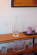 Pukeberg Sweden Glass Vase, Modernist, Rare, design by Uno Westerberg, Rare tall