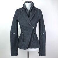 Lululemon Ride On Blazer Jacket Slim Fit Gray Black Womens Size 6