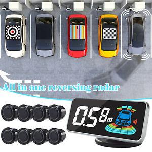 8Parking Sensor LED Car Auto Backup Reverse Assist Rear System Alert Alarm Kit