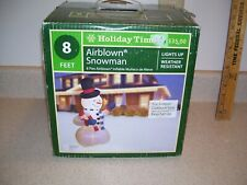 8' Inflatable Christmas Snowman Airblown Holiday Yard Outdoor Lighted 1400