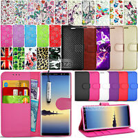 For Samsung Galaxy Note 8 N950F Wallet Flip Leather Case Cover + Screen Film
